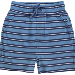 Jersey Shorts Streifen Petrol-Navy 86/92