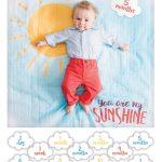Swaddle-Blanket & Karten Set Sunshine